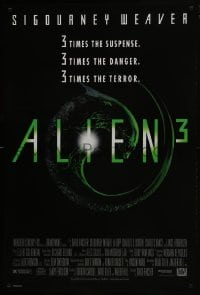8a039 ALIEN 3 1sh 1992 Sigourney Weaver, 3 times the danger, 3 times the terror!