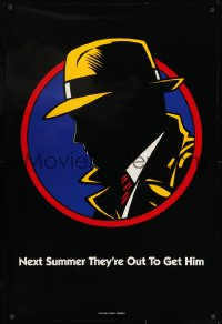 8a249 DICK TRACY teaser DS 1sh 1990 next Summer they are out to get detective Warren Beatty!