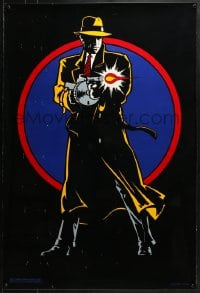 8a247 DICK TRACY teaser DS 1sh 1990 full-length art of Warren Beatty with tommy gun, undated design
