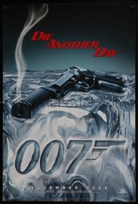 8a250 DIE ANOTHER DAY teaser DS 1sh 2002 Pierce Brosnan as James Bond, cool image of gun melting ice