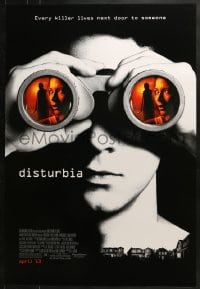 8a254 DISTURBIA advance DS 1sh 2007 every killer lives next door to someone!