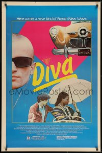 8a255 DIVA 1sh 1982 Jean Jacques Beineix, Frederic Andrei, a new kind of French New Wave!