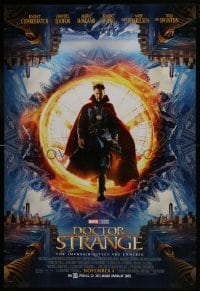 8a259 DOCTOR STRANGE advance DS 1sh 2016 sci-fi image of Benedict Cumberbatch in the title role!