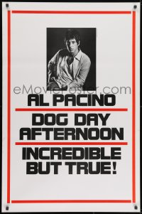 8a260 DOG DAY AFTERNOON teaser 1sh 1975 Al Pacino, Sidney Lumet bank robbery crime classic!