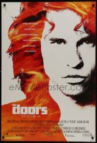 8a264 DOORS DS 1sh 1990 cool image of Val Kilmer as Jim Morrison, directed by Oliver Stone!