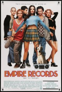 8a279 EMPIRE RECORDS DS 1sh 1995 Liv Tyler, Anthony LaPaglia, Renee Zellweger, Ethan Embry!