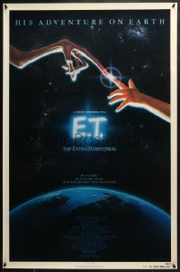 8a273 E.T. THE EXTRA TERRESTRIAL NSS style 1sh 1982 Steven Spielberg classic, John Alvin art!