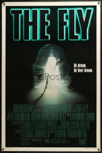 8a322 FLY style A 1sh 1986 David Cronenberg, Jeff Goldblum, cool sci-fi art by Mahon!