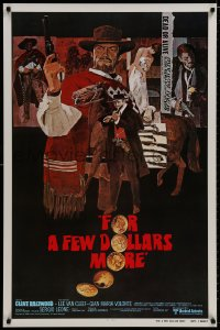 8a324 FOR A FEW DOLLARS MORE int'l 1sh R1980 Sergio Leone, Per qualche dollaro in piu, Clint Eastwood