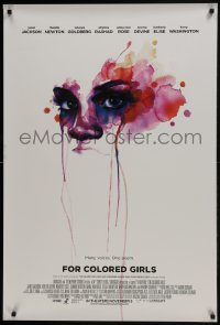 8a325 FOR COLORED GIRLS advance DS 1sh 2010 Janet Jackson, Thandie Newton, cool design!