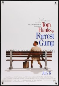 8a326 FORREST GUMP advance DS 1sh 1994 Tom Hanks sits on bench, Robert Zemeckis classic!