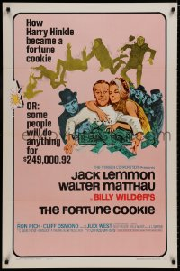 8a327 FORTUNE COOKIE style B 1sh 1966 wacky art of Jack Lemmon & Walter Matthau, Billy Wilder!