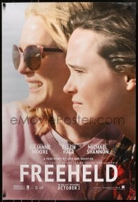 8a330 FREEHELD teaser DS 1sh 2015 Peter Sollett, Julianne Moore and Ellen Page on beach!