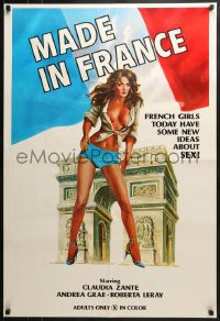 8a331 FRENCH ROMANCE 1sh 1974 Claudia Zante, French girls today have some new ideas about sex!