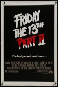 8a333 FRIDAY THE 13th PART II 1sh 1981 slasher horror sequel, body count continues!