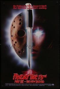 8a334 FRIDAY THE 13th PART VII int'l 1sh 1988 slasher horror sequel, someone is waiting!