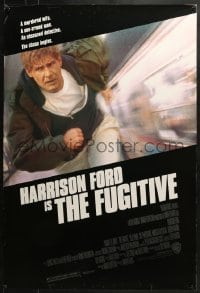 8a336 FUGITIVE 1sh 1993 Harrison Ford is on the run from Tommy Lee Jones!