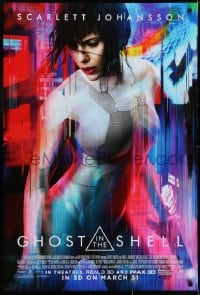 8a341 GHOST IN THE SHELL advance DS 1sh 2017 Scarlett Johanson as Major, Beat Takeshi Kitano!