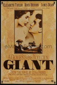 8a343 GIANT 1sh R1996 James Dean, Elizabeth Taylor, Rock Hudson, directed by George Stevens!