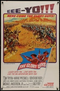 8a350 GLORY GUYS style B 1sh 1965 Sam Peckinpah, epic Civil War battle art by Frank McCarthy!