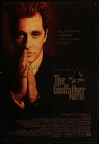8a351 GODFATHER PART III int'l DS 1sh 1990 best image of Al Pacino, directed by Francis Ford Coppola