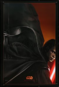 8a725 REVENGE OF THE SITH style A teaser 1sh 2005 Star Wars Episode III, Christensen as Vader!