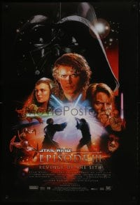 8a728 REVENGE OF THE SITH style B DS 1sh 2005 Star Wars Episode III, cool art by Drew Struzan!