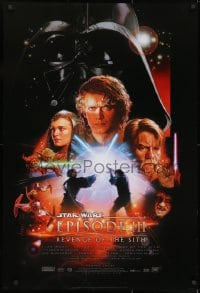 8a727 REVENGE OF THE SITH style B 1sh 2005 Star Wars Episode III, montage art by Drew Struzan!