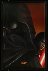 8a726 REVENGE OF THE SITH style A teaser DS 1sh 2005 Star Wars Episode III, great image of Darth Vader!