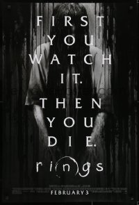8a729 RINGS advance DS 1sh 2017 D'Onofrio, Galecki, Teegarden, first you watch it then you die!