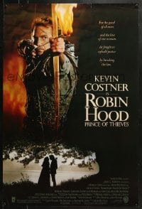 8a731 ROBIN HOOD PRINCE OF THIEVES 1sh 1991 cool image of Kevin Costner, for the good of all men!