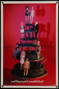 8a738 ROCKY HORROR PICTURE SHOW 1sh R1985 10th anniversary, Barbie Dolls on cake image, recalled!
