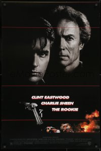 8a745 ROOKIE DS 1sh 1990 Clint Eastwood directs & stars, Charlie Sheen, Raul Julia