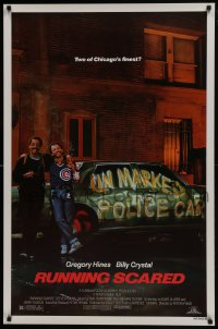 8a749 RUNNING SCARED 1sh 1986 Gregory Hines & Billy Crystal are Chicago's finest!