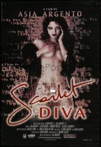 8a755 SCARLET DIVA 1sh 2002 super sexy Asia Argento writes, directs & stars, Italian horror!