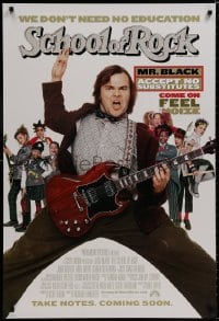 8a757 SCHOOL OF ROCK int'l advance 1sh 2003 Jack Black teaches 5th grade school kids how to play music!