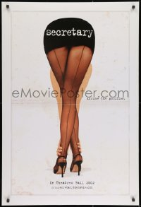 8a759 SECRETARY teaser DS 1sh 2002 Maggie Gyllenhaal, James Spader, sexy legs image!