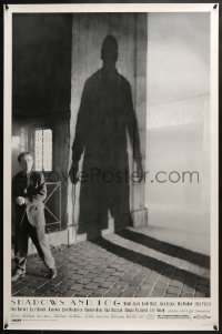 8a762 SHADOWS & FOG 1sh 1992 cool photographic image of Woody Allen by Brian Hamill!