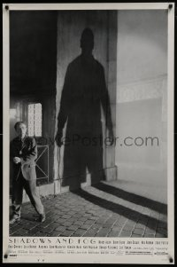8a763 SHADOWS & FOG DS 1sh 1992 cool photographic image of Woody Allen by Brian Hamill!