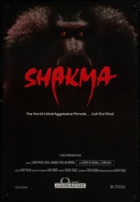 8a764 SHAKMA 1sh 1990 the world's most aggressive killer baboon primate... just got mad!