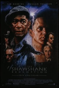 8a768 SHAWSHANK REDEMPTION DS 1sh R2004 Tim Robbins, Morgan Freeman, Stephen King, Struzan art!