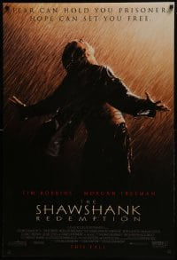 8a767 SHAWSHANK REDEMPTION advance DS 1sh 1994 escaped prisoner Tim Robbins in rain, Stephen King!