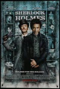 8a770 SHERLOCK HOLMES advance DS 1sh 2009 Guy Ritchie directed, Robert Downey Jr., Jude Law!
