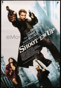 8a773 SHOOT 'EM UP int'l DS 1sh 2007 great image of Clive Owen, Paul Giamatti, sexy Monica Bellucci!