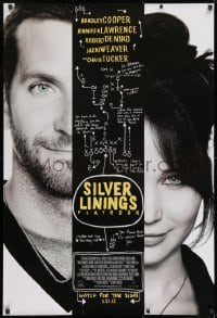8a780 SILVER LININGS PLAYBOOK advance DS 1sh 2012 split image of Bradley Cooper, Jennifer Lawrence!
