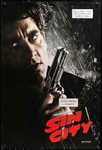 8a783 SIN CITY teaser DS 1sh 2005 graphic novel by Frank Miller, cool image of Clive Owen as Dwight!