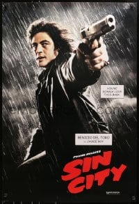 8a782 SIN CITY teaser DS 1sh 2005 Frank Miller, cool image of Benicio Del Toro as Jackie Boy!