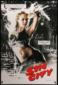 8a781 SIN CITY teaser DS 1sh 2005 Frank Miller comic, color image of sexy Jessica Alba as Nancy!