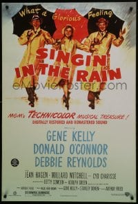 8a785 SINGIN' IN THE RAIN DS 1sh R2000 Gene Kelly, Donald O'Connor, Debbie Reynolds, classic!