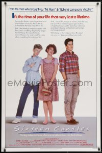 8a786 SIXTEEN CANDLES 1sh 1984 Molly Ringwald, Anthony Michael Hall, directed by John Hughes!